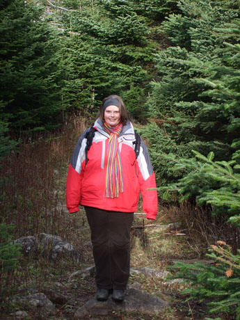 Marije on a forest trail