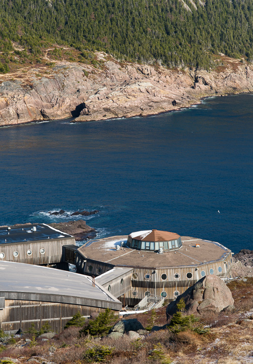 Looking on top of the Ocean Sciences Centre - Sugarloaf Path