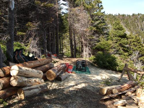 Trail construction - Stiles Cove Path