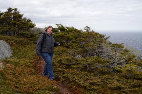 Marije on the East Coast Trail - Flatrock
