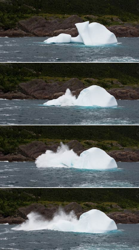 Iceberg crashing - Logy Bay