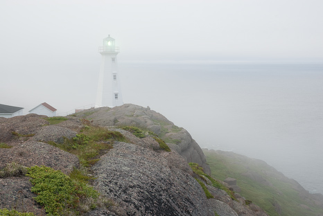 Fog at the lighthouse - Cape Spear