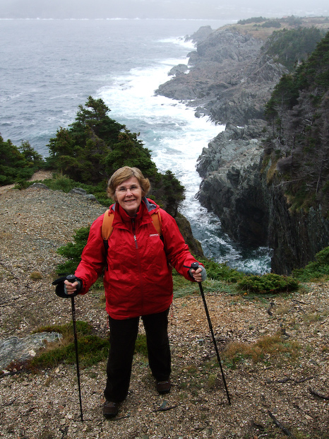 Mom on the trail - Pouch Cove