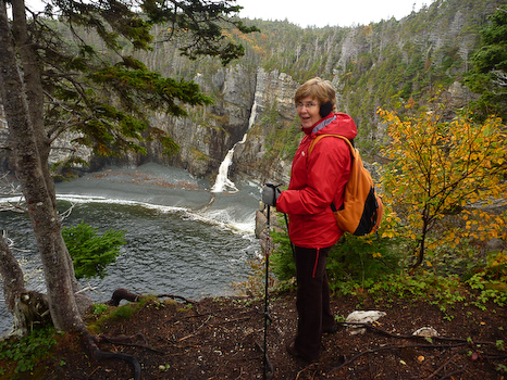 Mom on the trail - Stiles Cove