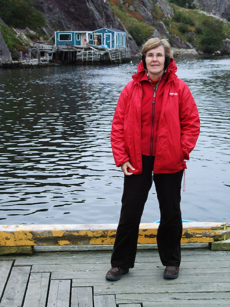 Mom at the Quidi Vidi battery