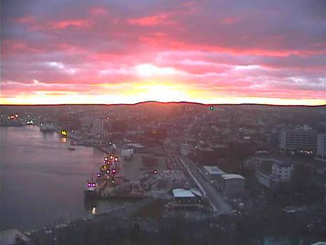 Skycam sunset - St. John's