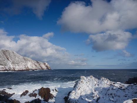 Clouds over a winter landscape - Logy Bay