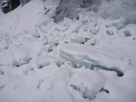 Fallen icicles - Middle Cove beach