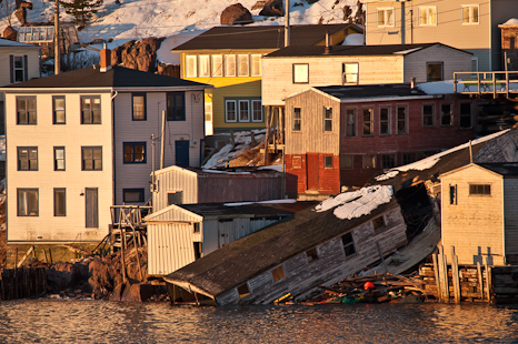 Storm damage at the Battery - St. John's