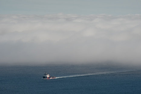 Out of the fog - St. John's Bay