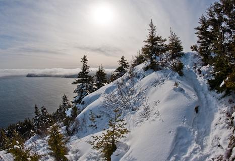 Snow on the trail - St. John's
