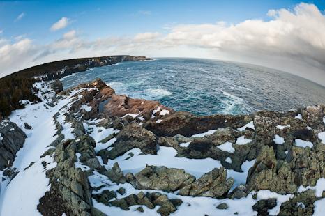 Stiles Cove Path, a fisheye view