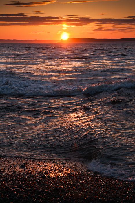 Sunset surf - Topsail