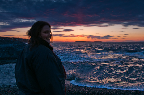 Marije after sunset - Topsail