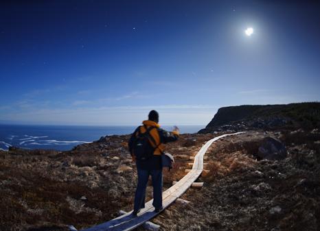 Sugarloaf Path at night