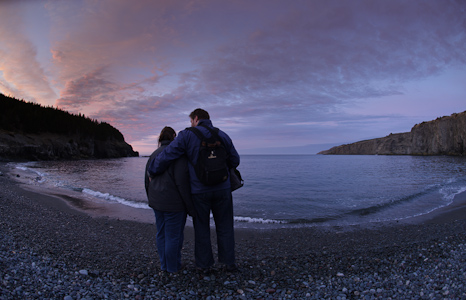 Sunset - Middle Cove Beach