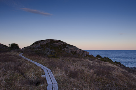 Clear skies, almost - Cape Spear Path