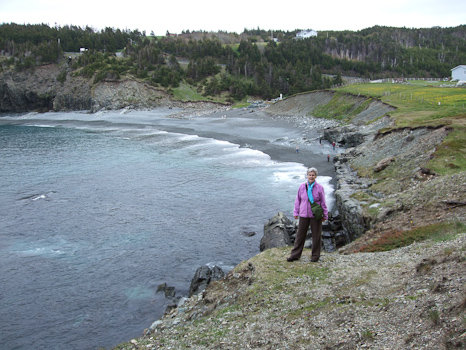 Mom at the beach - Middle Cove