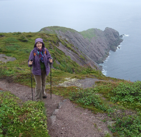 Mom at Torbay Point - Cobbler's Path (Formerly Red Cliff Path)