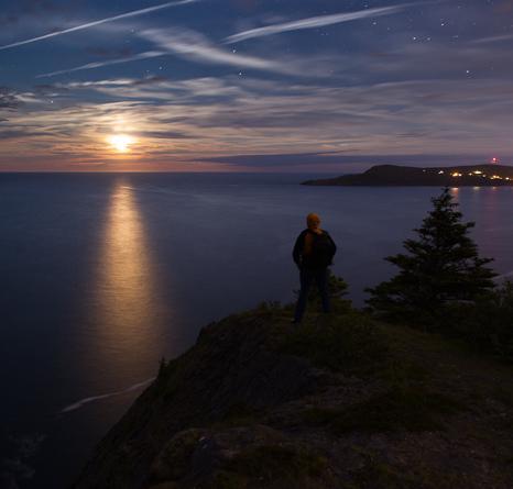 Late moonrise - Church Cove