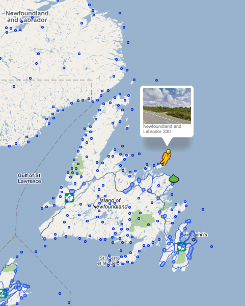 Street View in the rest of Newfoundland