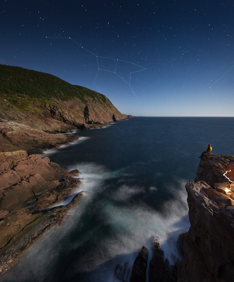 Ursa Major over Red Cliff - Shooting Point Cove