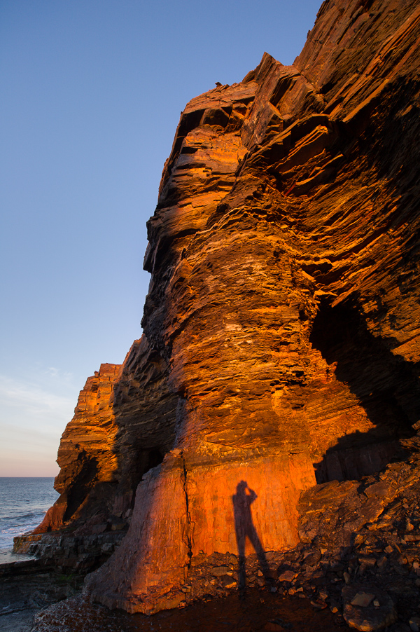 My shadow on an iron ore wall - Bell Island