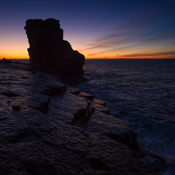 Blue hour at Shoe Rock - Bell Island
