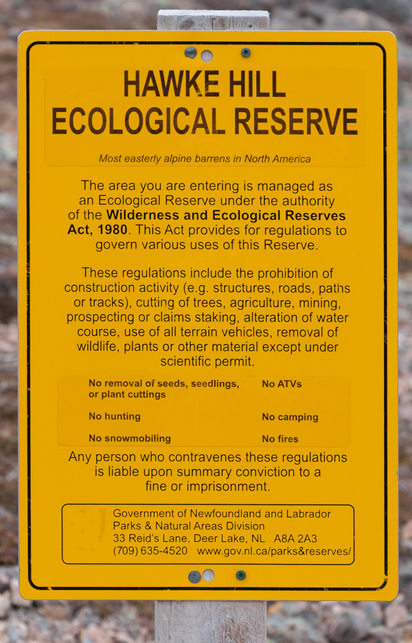 At the entrance - Hawke Hill Ecological Reserve