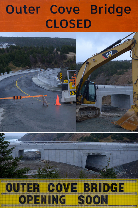Brand new bridge almost done - Outer Cove