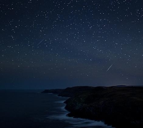 Geminids over Newfoundland - Cape Spear Path