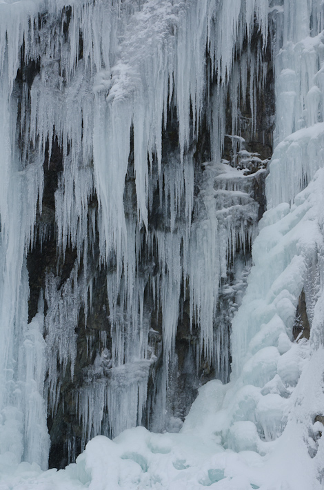 Ice walls on the East end of the beach - Middle Cove