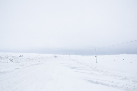 Near whiteout conditions - Route 13