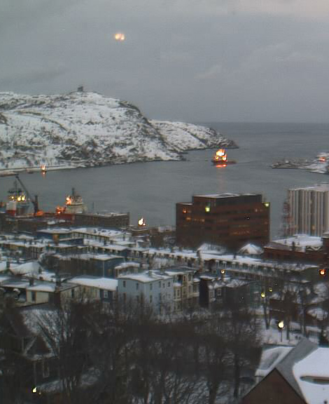HarbourCam moonrise - St. John's