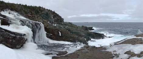 Frozen Freshwater Falls - Cape St. Francis Path