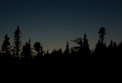 Yesterday's near conjunction of Jupiter and Mercury - Cape Spear Drive