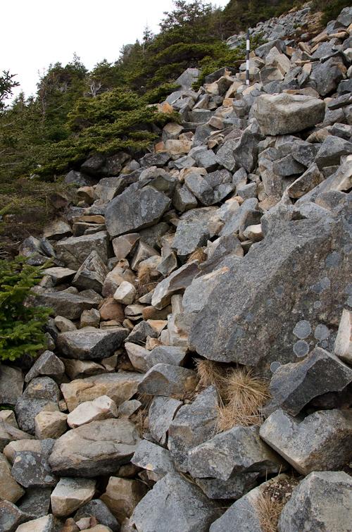 Rocky stairway - Father Troy's Trail