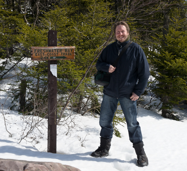 A happy hiker (me) - Freshwater Bay access trail
