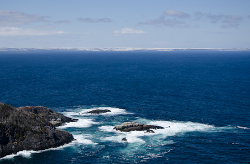 No icebergs between Cripple Cove and Bay de Verde Peninsula