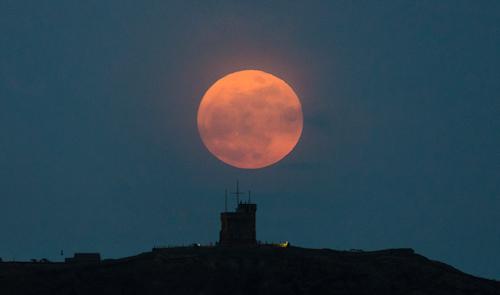 Cabot Tower moonrise - St. John's