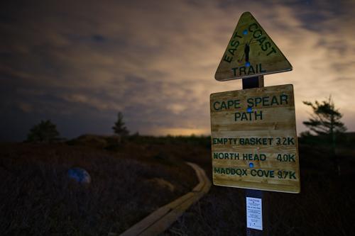 A cloudy start - Cape Spear Path