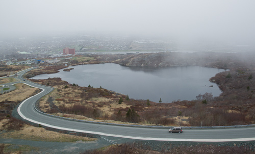 Foggy weather over George's Pond - St. John's