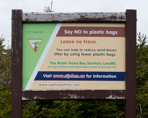 Say no to plastic bags - Sugarloaf Path