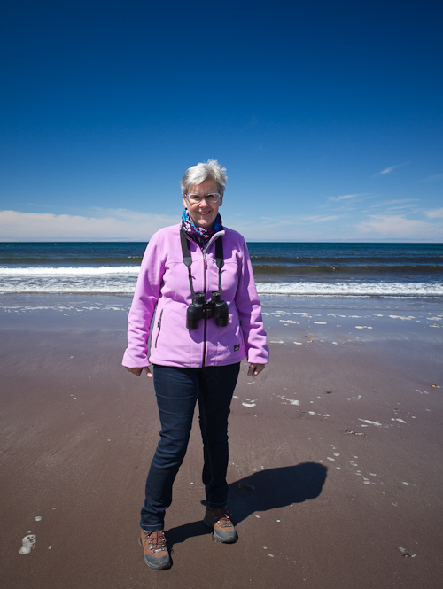 Mom at the beach - Gooseberry Cove