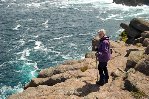 Mom and the ocean - Cape Spear Path