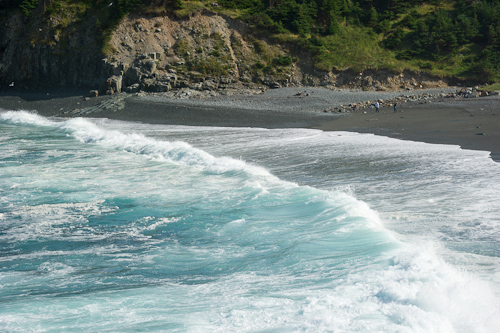 Big surf at the beach - Middle Cove