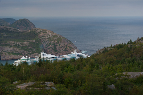 Jewel of the Seas departing St. John's - Deadman's Bay Path