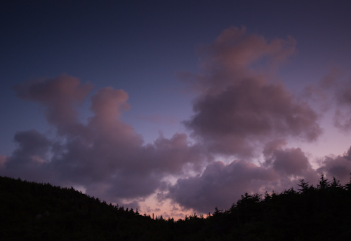 Colourful clouds at dusk - Cobbler Path