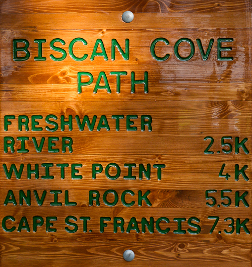 Trailhead - Biscan Cove Path