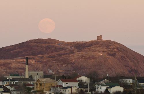November moonrise over Signal Hill - St. John's